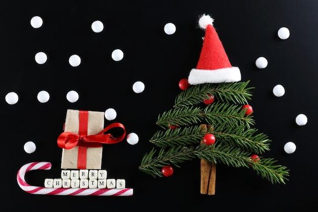 クリスマスツリーの形の背景