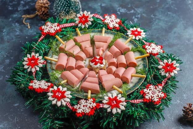 クリスマスツリー型のおやつ。