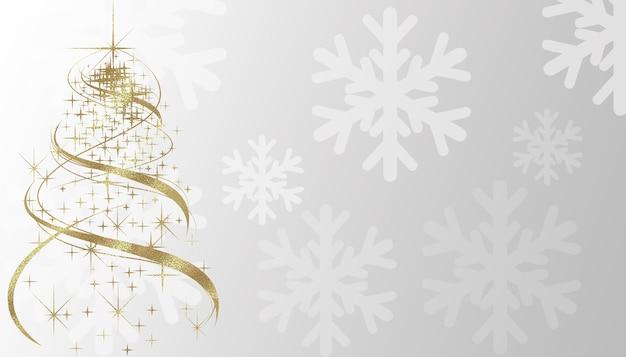 Christmas tree on snowflake background