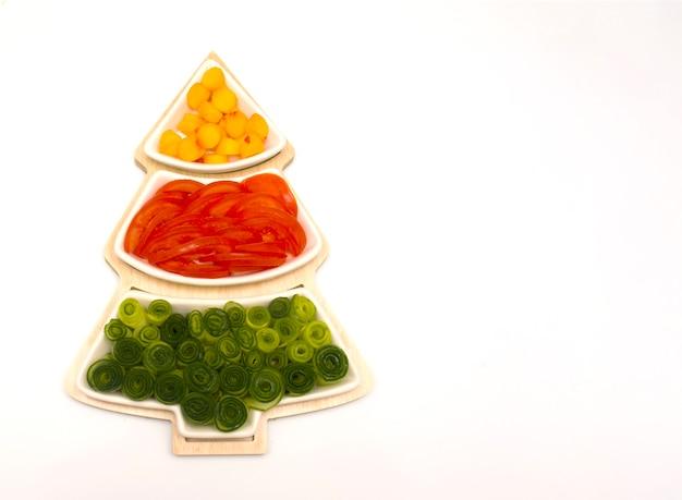Елка овощная еда