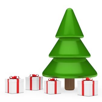 Рождественская елка с четырьмя подарками