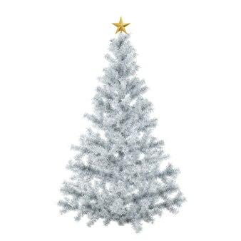 金色の星が上にあるクリスマスツリー