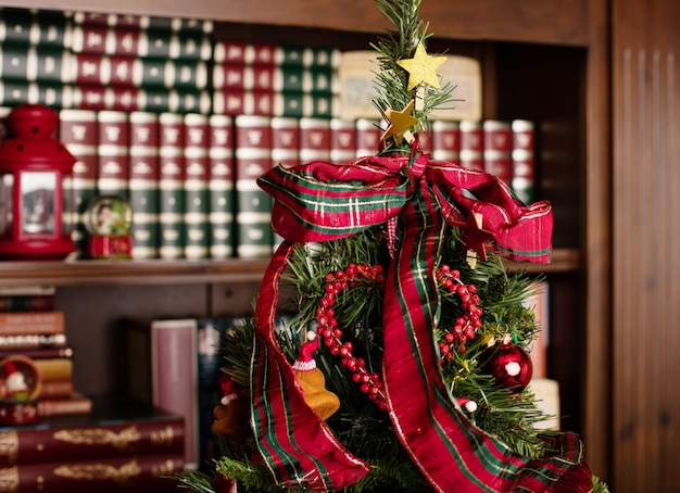 Christmas tree with ribbons