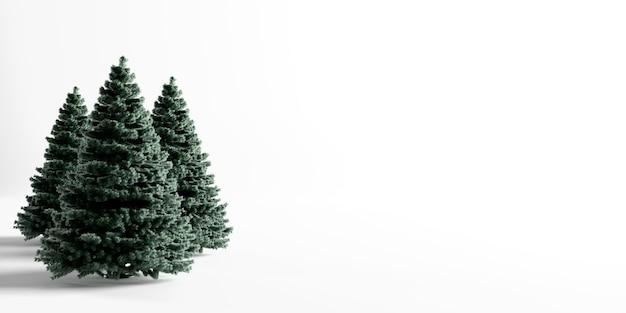 Рождественские елки, изолированные на белом фоне