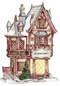 Рождественская деревня с гномами