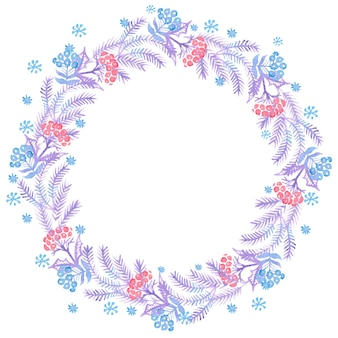 Christmas watercolor wreaths for decoration