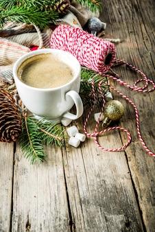 Christmas winter coffee cup