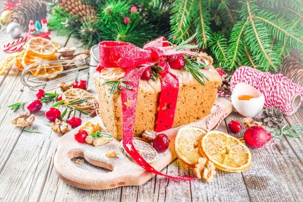 Christmas winter fruit cake