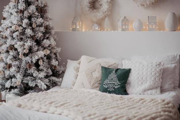 Рождество зимний орнамент декор подушка