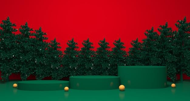 Christmas and winter product display
