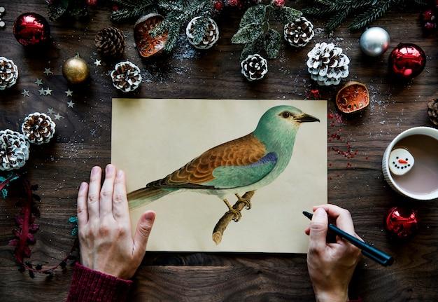 Рождественская открытка с пожеланиями