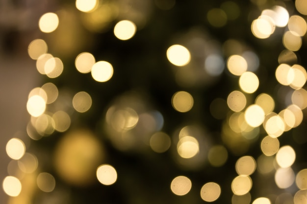 Christmas with gold bokeh light background. xmas abstract blur.
