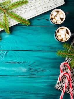 Christmas with hot chocolate keyboard