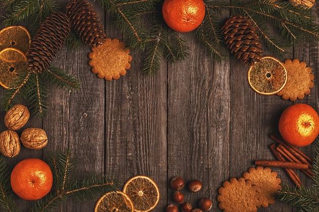 クリスマスの木製の背景