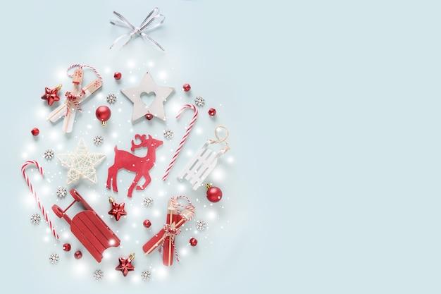크리스마스 나무 장식, 사슴, 빨간 싸구려, 값싼 물건 장식 모양의 눈송이
