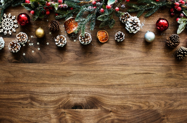 Christmas wooden design space wallpaper