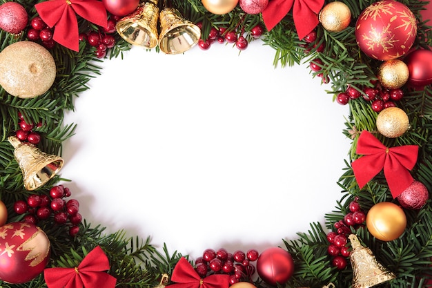 크리스마스 화환 테두리