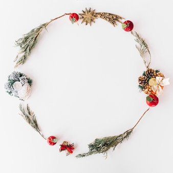 Christmas wreath from branches