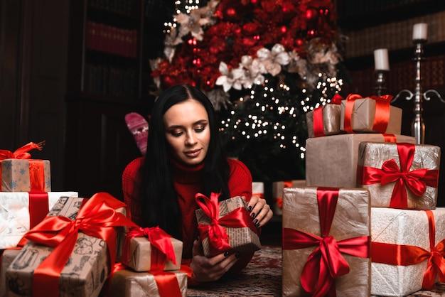 クリスマス、クリスマス、冬、幸福の概念