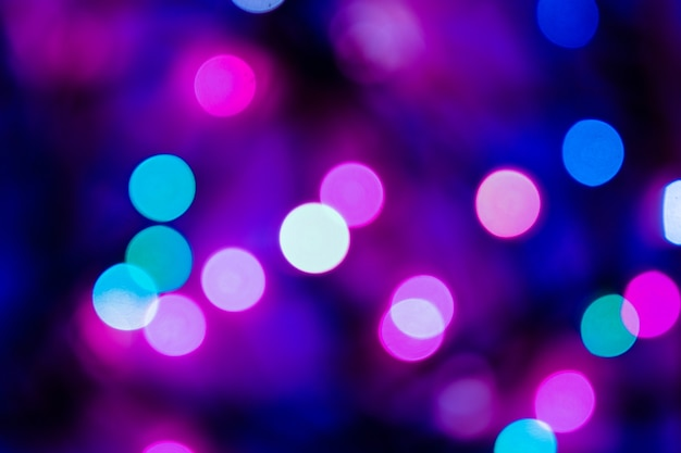 Christmass abstract bokeh in blue and purple tones