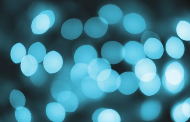 Рождественское абстрактное боке в голубых тонах