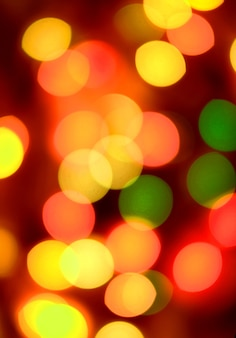 Рождественские абстрактные в желтых и красных тонах