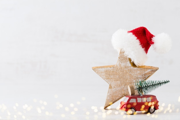 Christmass. christmas calendar, 24 december on the gray.