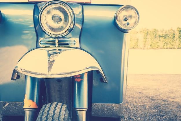 Chrome bumper transportation classic front