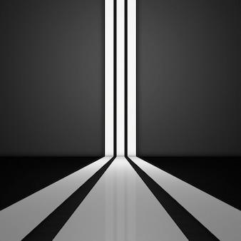 크롬 색상 기하학 회색 3d 추상 금속 스트립 배경. 아름다운 모양 벤딩 라인 크롬 색상