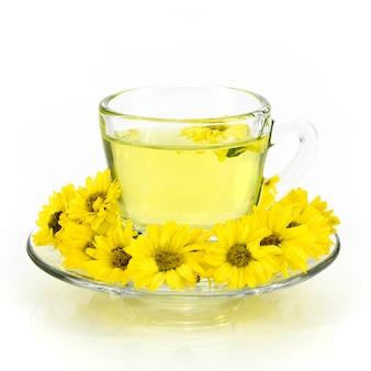 Chrysanthemum tea from organic plantation field.