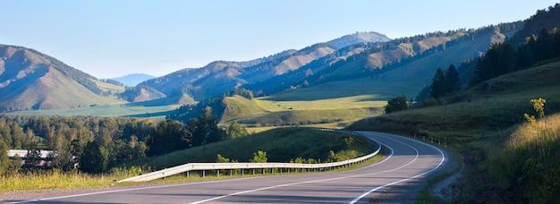 Чуйский тракт, дорога в горах алтая
