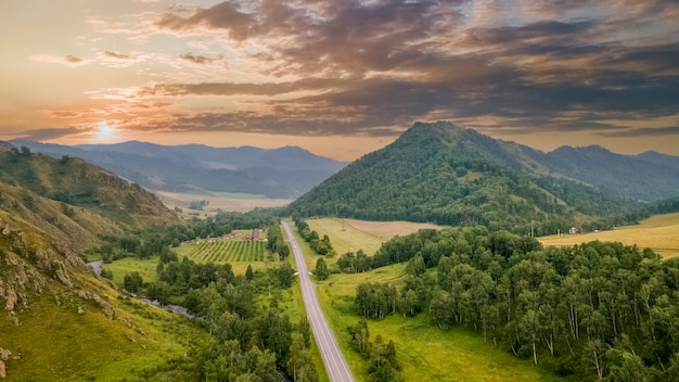 Chuisky tract the most beautiful road in russia amazingâview beautiful sky altai mountains