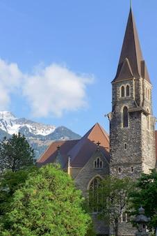 Church on the blue sky background
