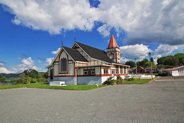 ニュージーランドのロトルアの教会