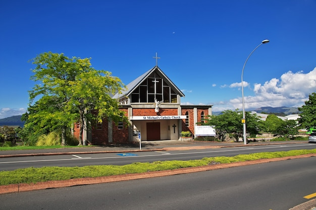 Церковь в роторуа, новая зеландия