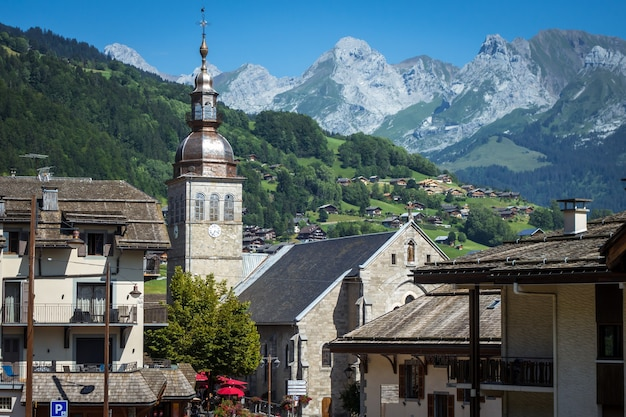 프랑스 그랑 보르낭 마을의 교회