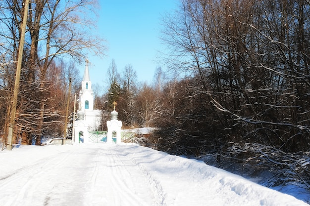 겨울 숲의 교회