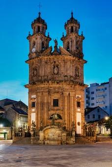 Церковь паломника на пути сантьяго в понтеведре, галисия, испания