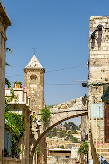 Church in the old town of jerusalem - israel