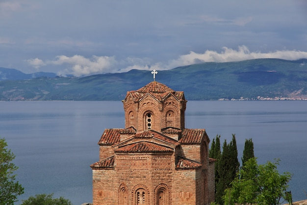 Church in orchid city, macedonia