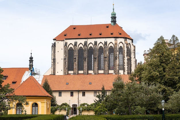 Church of our lady of the snows in prague, czech republic.