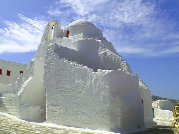 The church of panagia paraportiani in mykonos town, mykonos island, greece