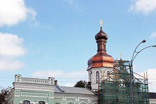 Church in the park golden domes
