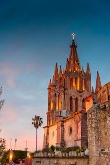 Church at san miguel de allende, guanajuato, mexico