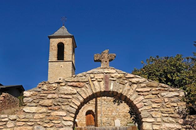 Church of sant andreu de baltarga, bellver de cerdanya, pyrenees,girona province, catalonia, spain