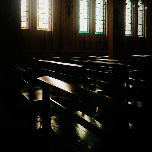 교회 좌석 종교 신앙 예배