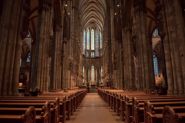 Church service held in the cathedral in cologne, germany.