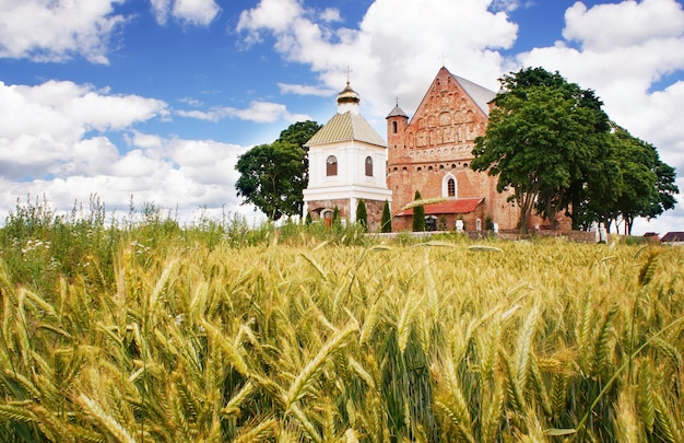 The church of st. michael in synkavichy, zelva district, hrodna province, in belarus.