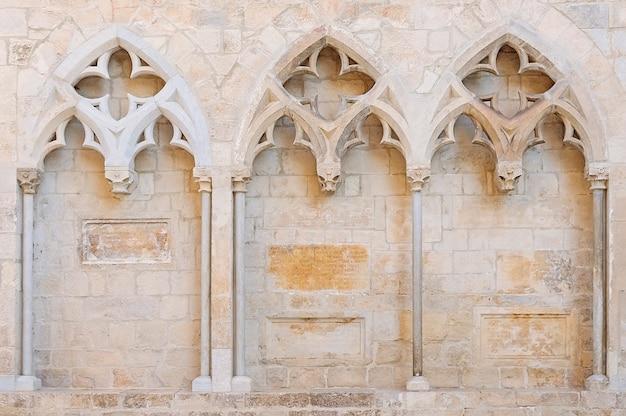 Church wall in old town of girona
