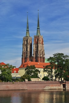 The church in wroclaw city, poland